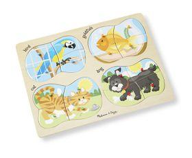 Melissa & Doug 4-in-1 Pets Puzzle