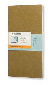 Moleskine Chapters Journal Slim Large Ruled Tawny Olive