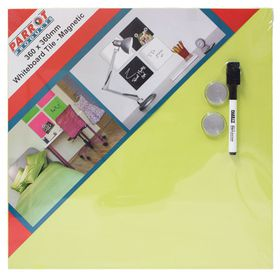 Parrot Whiteboard Tile Magnetic 360 x 360mm - Green