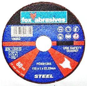 Fox Tools - Abrasive Cutting Disc Steel Professional - 115 x 1.0mm