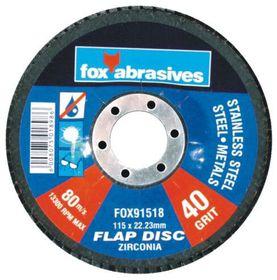 Fox Tools - Abrasive Disc Flap Std 115mm - 40g