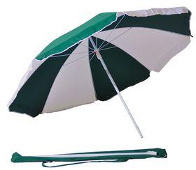 St Umbrella - Beach Umbrella - Bottle Green and White