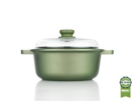 Risoli Dr Green Sauce Pot with Glass Lid - 24cm