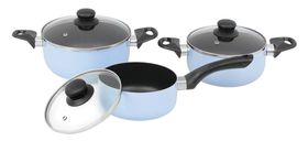 My Pan - 6 Piece Non-Stick Casserole Cookware Set - Light Blue