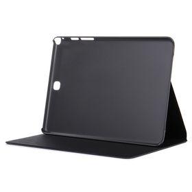 "Tuff-Luv Faux Leather Case for Samsung Galaxy Tab E 9.6"" - Black"