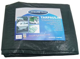 LeisureQuip - Tarpaulin Size 4.5M X 4.5M With Reinforced Corners - Grey