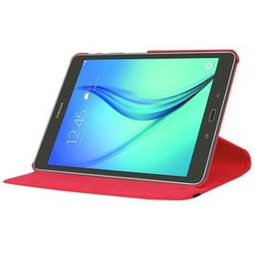 "Tuff-Luv Rotating Leather Case Cover for Samsung Galaxy Tab S2 9.7""  (Model - T815) - Red"