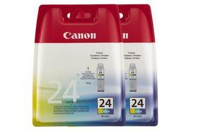Canon BCI-24 Twinpack Cartridge - Colour x 2