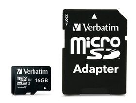 Verbatim 16GB Pro 600x Micro SD Card with Adaptor