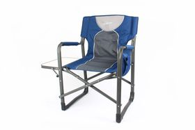 Kaufmann - Directors Chair with Steel Table - Blue & Grey
