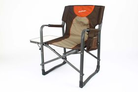 Kaufmann - Directors Chair with Steel Table - Brown & Khaki