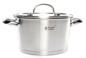 Russell Hobbs - Nostalgia Finesse Stainless Steel Casserole With Glass Lid - 20 cm