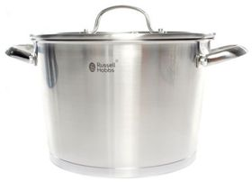 Russell Hobbs Nostalgia Finesse Stainless Steel Casserole with Lid - 24cm
