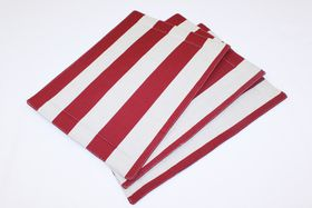 Balducci - Earthstone Placemats Set Of 6 - V Stripe and Red