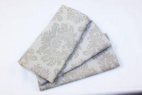 Balducci Earth Stone Damask Napkins Set Of 6 - Khaki
