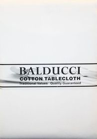 Balducci 1Cotton White Square Tablecloth - 6 Seater