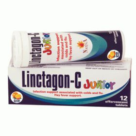 Linctagon C Effervescent Junior Tablets Orange - 12s