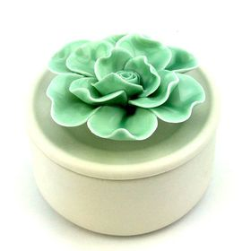 Pamper Hamper Flower Trinket Box - Teal