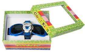 Cool Kids Boys Watch & Sunglass Set - Black & Blue