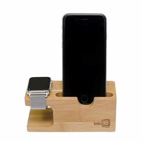 Tek88 Apple Watch and iPhone Bamboo Charge Dock/Stand