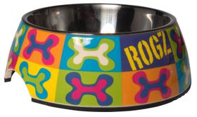 Rogz - 2-in-1 Pop Art Bubble Dog Bowl - Extra-Large