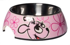 Rogz - Pupz 2-in-1 Pink Roxi Puppy Bubble Bowl - Small