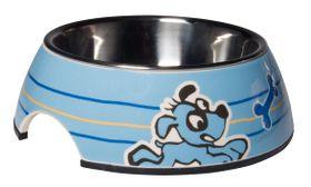 Rogz Pupz 2-in-1 Blue Ringo Puppy Bubble Bowl - Medium