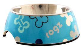 Rogz Lapz 2-in-1 Blue Bones Bubble Bowl - Small