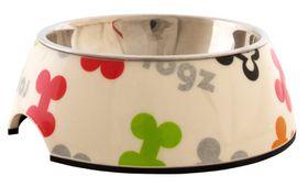 Rogz Lapz 2-in-1 Multi Bones Bubble Bowl - Medium