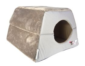 Rogz - Catz Multi-Purpose Grey Heart Tails Igloo Bed - Medium