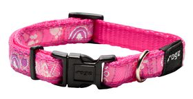Rogz Fancy Dress Pink Paw Dog Collar - Small