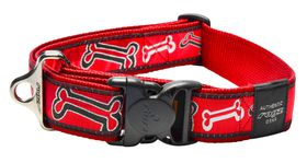 Rogz Fancy Dress Red Rogz Bone Dog Collar - 2XL