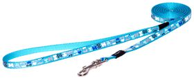 Rogz Lapz Trendy Blue Bones Fixed Long Dog Lead - Extra Small