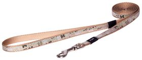 Rogz Lapz Trendy Brown Bone Fixed Long Dog Lead - Small