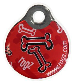 Rogz ID Tagz Rogz Bone Instant Resin Tag Red - Small