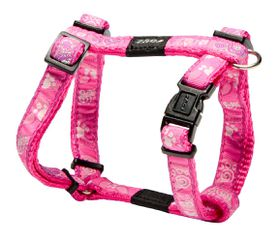 Rogz Fancy Dress Pink Paws Dog H-Harness - Small