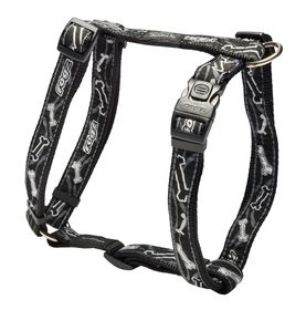 Rogz - Fancy Dress Black Bone Dog H-Harness - Large