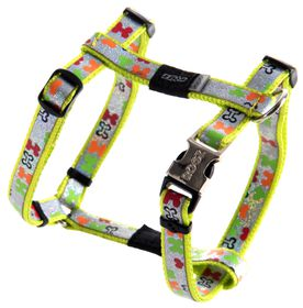 Rogz Lapz Trendy Multi Bones Dog H-Harness - Small