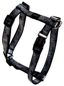 Rogz Lapz Trendy Black Bones Dog H-Harness - Medium