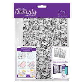 Docrafts Creativity Essentials Clear Background Stamp - Butterflies
