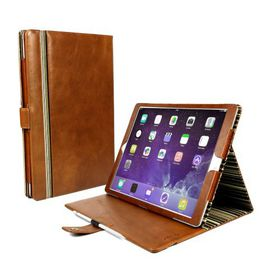 "Tuff-Luv Alston Craig Vintage Genuine Leather Slim-Stand Case Cover for Apple iPad Pro 12.9"" - Brown"