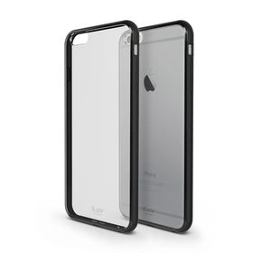 iLuv Vyneer Dual Material Case iPhone 6/6s Plus - Black