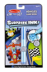 Melissa & Doug Surprize Ink Book - Vehicles