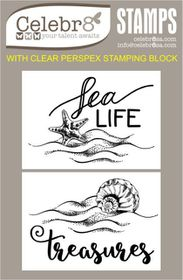 Celebr8 Sea Treasures Stamp - Sea Treasures