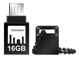 Strontium 16GB NITRO OTG USB 3.0 Flash Drive - Black