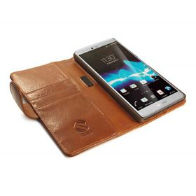 Tuff-Luv Vintage Leather Stand Case for Xperia Z5 Premium (Z5+) - Brown