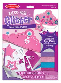 Melissa & Doug Foam Wand and Tiara Mess Free Glitter