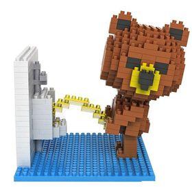 Diamond Block- Brown Bear Toilet