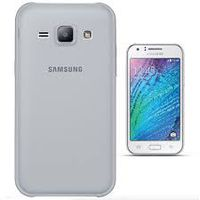 TPU Gel Cover Case for Samsung J1 - Transparent Grey Frosted