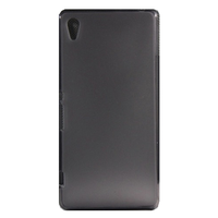 TPU Gel Cover Case for Sony M4 Aqua - Transparent Grey Frosted